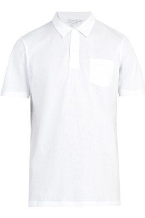 Sunspel Men Polo Shirts - Riviera Chest-pocket Cotton-piqué Polo Shirt - Mens
