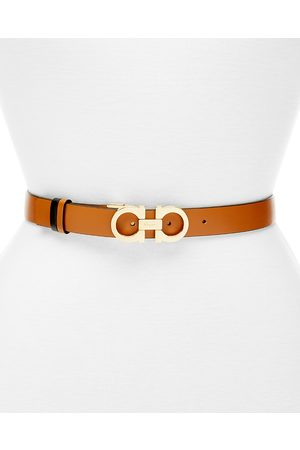 Salvatore Ferragamo Gancini Slim Reversible Leather Belt