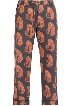 Desmond & Dempsey Sansindo Tiger-print Cotton Pyjama Trousers - Mens