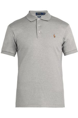 Polo Ralph Lauren Slim-fit Cotton Polo Shirt - Mens - Grey