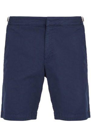 Orlebar Brown Dane Ii Cotton Blend Twill Shorts - Mens - Navy