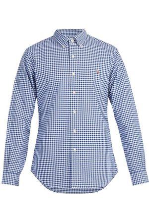 Ralph Lauren Logo Embroidered Gingham Cotton Shirt - Mens - Multi