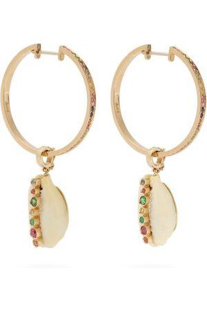 Aron & Hirsch Etiope 18kt Gold And Sapphire Hoop Earrings - Womens - Multi
