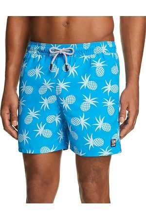 Tom & Teddy Pineapple-Print Swim Trunks