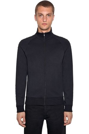 Valentino Men Jackets - Techno Jersey Zip-up Jacket
