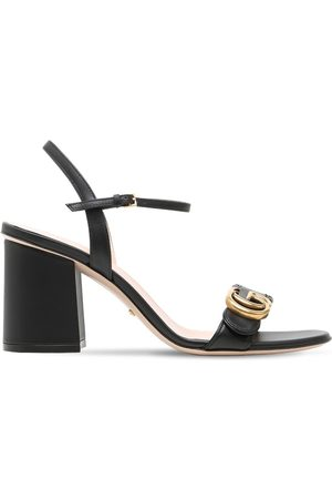Gucci Women Sandals - 75mm Marmont Leather Sandals