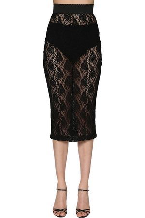 Dolce & Gabbana Stretch Lace Pencil Skirt