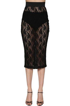 Dolce & Gabbana Stretch Lace Pencil Skirt