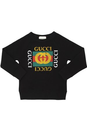 Gucci Logo Print Cotton Sweatshirt