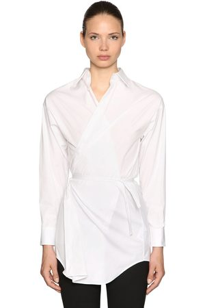 Dsquared2 Stretch Cotton Poplin Wrap Shirt