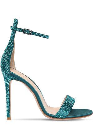 Gianvito Rossi 105mm Portofino Crystals Satin Sandals