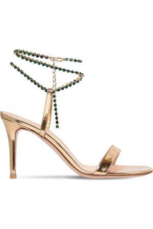 Gianvito Rossi 85mm Metallic Leather Sandals