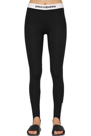 Paco rabanne LOGO BAND JERSEY STIRRUP LEGGINGS