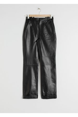 & OTHER STORIES Cuffed Leather Trousers