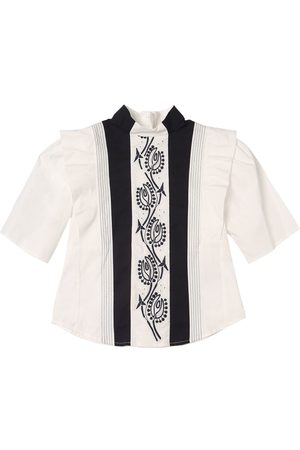 Chloé Cotton Poplin Shirt W/ Embroidery