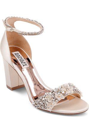 Badgley Mischka Women Sandals - Women's Finesse Embellished Block Heel Sandals