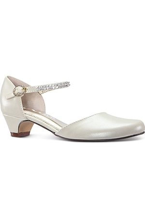 NINA Girls' Cera Embellished D'Orsay Ankle Strap Flats - Little Kid, Big Kid