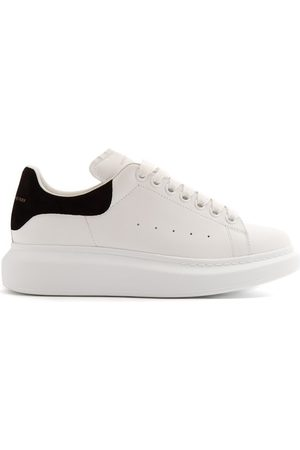 Alexander McQueen Raised Sole Low Top Leather Trainers - Womens