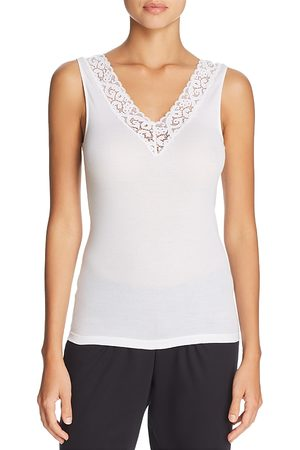 Hanro Moments Cotton Lace-Trim Tank