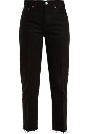 Re/Done Stove Pipe High-rise Straight-leg Jeans - Womens