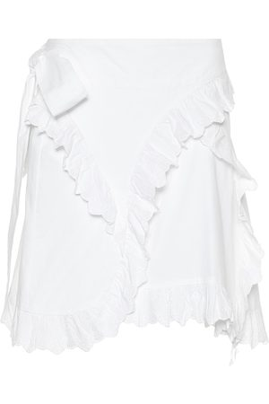 Isabel Marant Milou embroidered cotton miniskirt