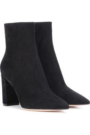 Gianvito Rossi Women Ankle Boots - Piper 85 suede ankle boots
