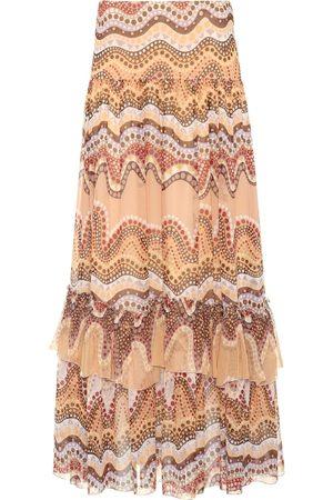 Chloé Exclusive to Mytheresa – Printed silk-crepon skirt
