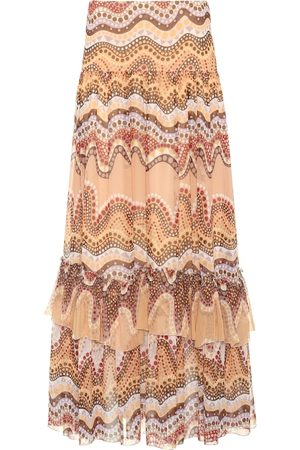 Chloé Exclusive to mytheresa.com – printed silk-crepon skirt