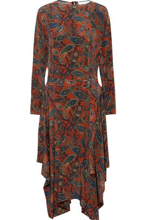 Chloé Women Printed Dresses - Printed silk midi dress