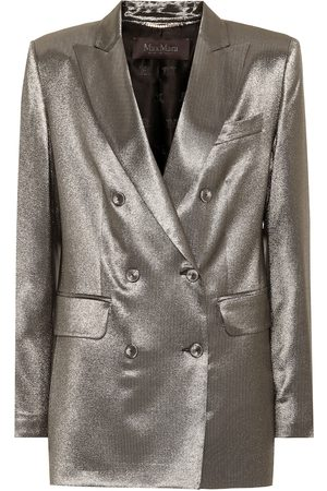 Max Mara Nadia metallic stretch silk blazer