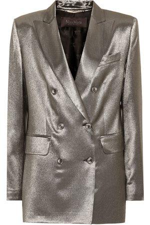Max Mara Women Blazers - Nadia metallic stretch silk blazer