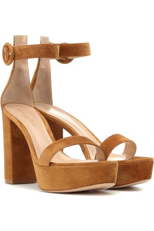 Gianvito Rossi Women Sandals - Suede plateau sandals