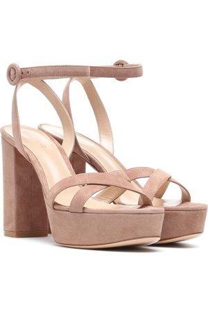 Gianvito Rossi Poppy 70 suede plateau sandals
