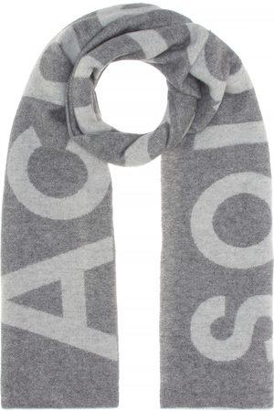 Acne Toronty Logo wool-blend scarf