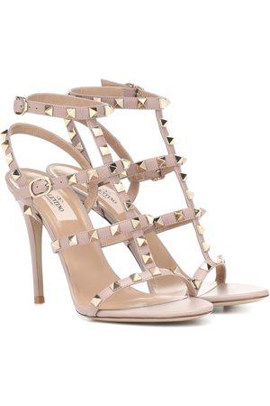 Valentino Women Sandals - Rockstud leather sandals