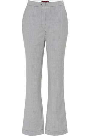 AlexaChung Houndstooth wool-blend pants