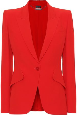 Alexander McQueen Women Blazers - Single-breasted crêpe blazer