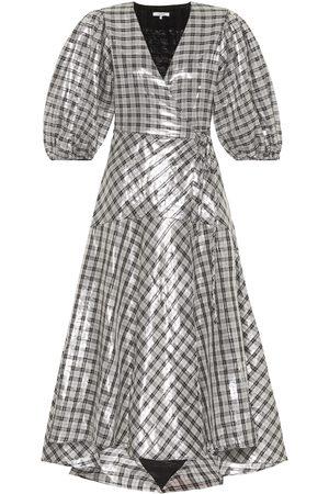 Ganni Largarde metallic silk-blend dress