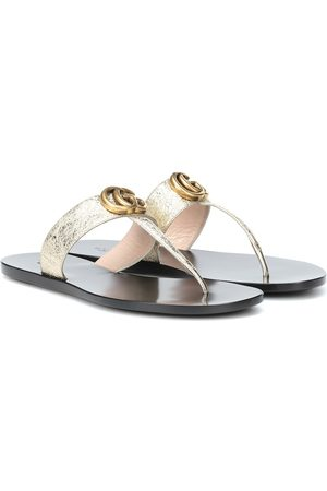 Gucci Women Sandals - Double G leather sandals