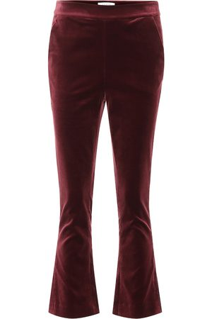 Frame Slit cropped velvet pants
