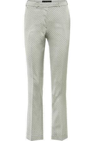 Etro Cropped mid-rise straight pants