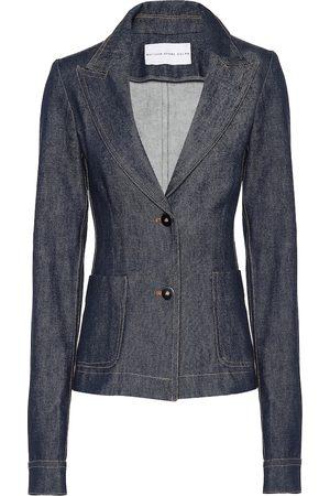 MATTHEW ADAMS DOLAN Women Denim Jackets - Denim blazer