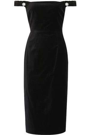 AlexaChung Off-the-shoulder velvet dress