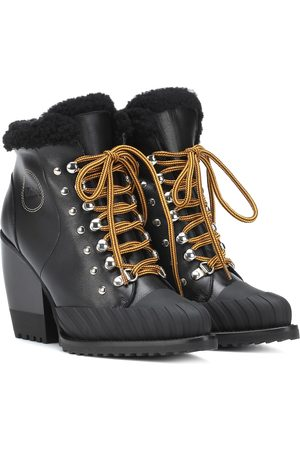 Chloé Rylee leather and shearling boots