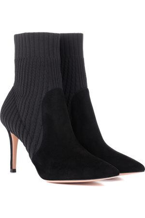 Gianvito Rossi Women Ankle Boots - Katie 85 suede ankle boots