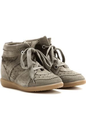Isabel Marant Women Platform Sneakers - Bobby suede wedge sneakers