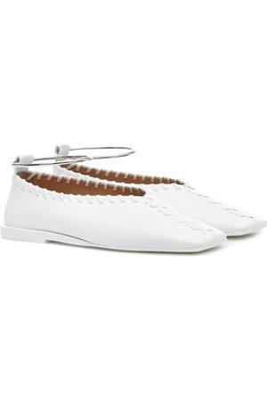 Jil Sander Ankle-ring leather flats