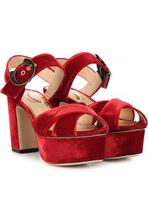 Charlotte Olympia Aristocat 90 velvet plateau sandals