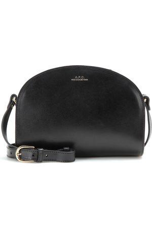 A.P.C Demi-Lune leather shoulder bag