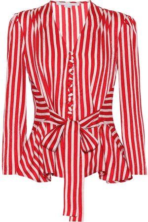 Stella McCartney Women Shirts - Striped silk shirt
